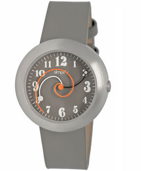 Simplify Unisex The 2700 Grey Leather-Band Watch SIM2703