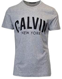 Calvin Klein Jeans Men's Grey Cotton T-shirt.