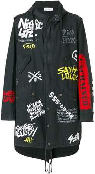 Faith Connexion oversized graffiti print coat