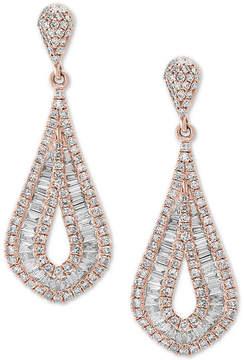Effy Classique by Diamond Baguette Drop Earrings (1-1/2 ct. t.w.) in 14k Rose Gold