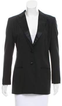 Calvin Klein Collection Wool Satin-Trimmed Blazer