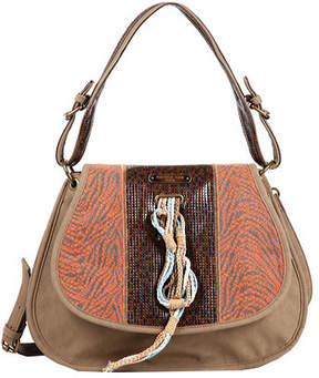Nicole Lee Women's Naomi Neutral Works Messenger Bag