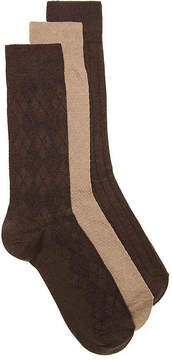 Cole Haan Argyle Textured Dress Socks - 3 Pack - Men's