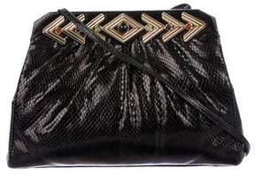 Judith Leiber Embossed Leather Mini Bag