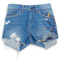Blank NYC Girl's Embroidered Denim Cut Off Shorts