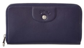 Longchamp Le Pliage Cuir Leather Zip Around Wallet. - NAVY - STYLE