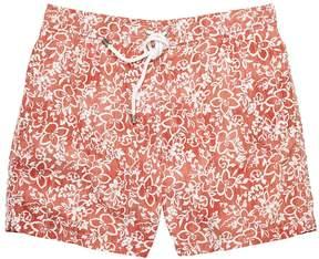Hartford Faded Floral Mid-Length Swim Short