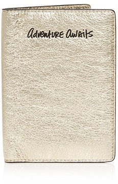 Rebecca Minkoff Adventure Awaits Leather Passport Case - LIGHT GOLD/GOLD - STYLE
