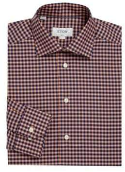 Eton Slim-Fit Checkered Dress Shirt