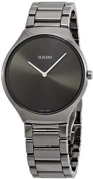 Rado True Thinline Grey Dial Men's Ceramic Watch