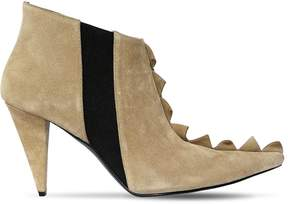 Loewe 90mm Zigzag Suede Ankle Boots