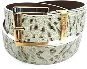 Michael Kors Womens Gold Buckle Vanilla Belt