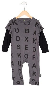 Nununu Boys' Letter Print All-In-One