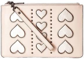Rebecca Minkoff Wristlet Pouch Wallet Handbags - BLACK/SILVER - STYLE