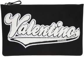 Valentino Logo Applique Clutch