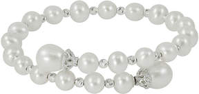 Brilliance+ FINE JEWELRY Cultured Freshwater Pearl & Sterling Silver Brilliance Bead Coil Bracelet
