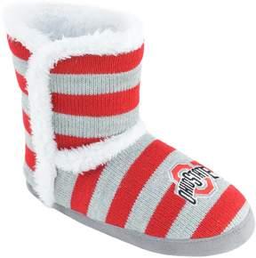 NCAA Women's Ohio State Buckeyes Striped Boot Slippers