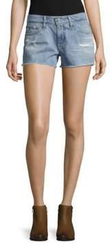 AG Adriano Goldschmied Frayed Cotton Denim Shorts