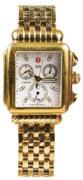 Michele Deco DD15582 Gold Plated Stainless Steel 30mm Womens Watch