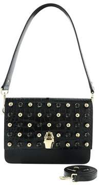Roberto Cavalli Milano Bag Large Milano Rmx 00 Black Shoulder Bag.