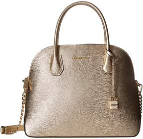 MICHAEL Michael Kors Mercer Large Dome Satchel Satchel Handbags - PALE GOLD - STYLE