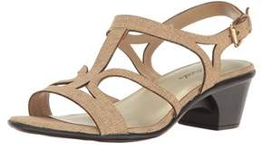 Easy Street Shoes Womens Britney Open Toe Casual Slingback Sandals.