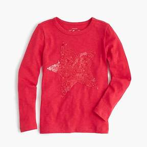 J.Crew Girls' shimmering star T-shirt
