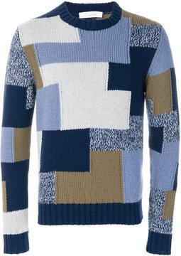 Cruciani colour block jumper