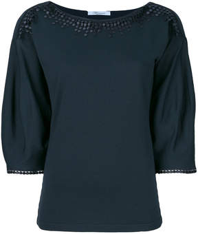 Blumarine embroidered detail blouse