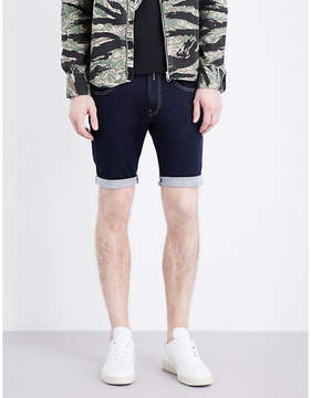 Replay Anbass mid-rise stretch-denim shorts