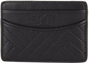 Tory Burch Alexa Leather Card Holder - BLACK - STYLE