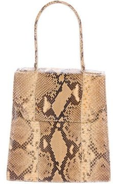 Carlos Falchi Snakeskin Handle Bag