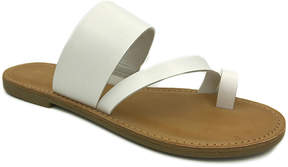 Bamboo White Toe-Strap Christy Sandal - Women