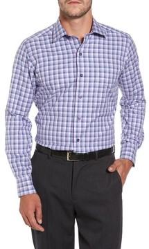 David Donahue Men's Plaid Herringbone Sport Shirt