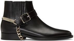 Balmain Black Eperon Boots