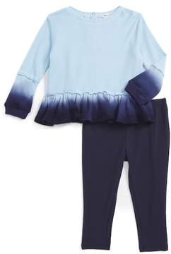 Splendid Dip Dye Thermal Top & Leggings 2-Piece Set (Baby Girls)