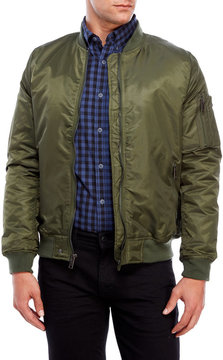 Brave Soul Olive Oslo Bomber Jacket