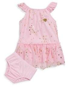 Juicy Couture Baby's Two-Piece Printed Ruffled Dress and Bloomers