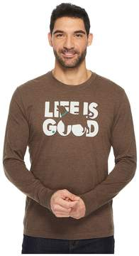 Life is Good Fetch Long Sleeve Crusher Tee Men's Short Sleeve Pullover