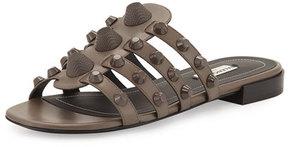 Balenciaga Studded Caged Flat Slide Sandal