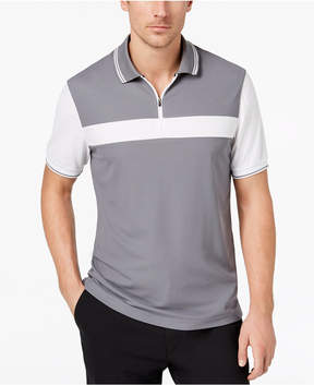 Club Room Men's Colorblocked 1/4-Zip Performance Polo, Created for Macy's