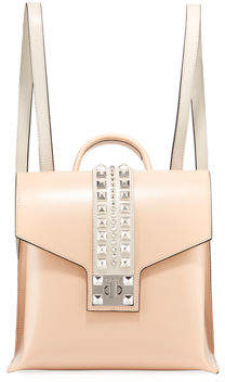 Mario Valentino Valentino By Olivier Soave Leather Backpack - Silvertone Hardware