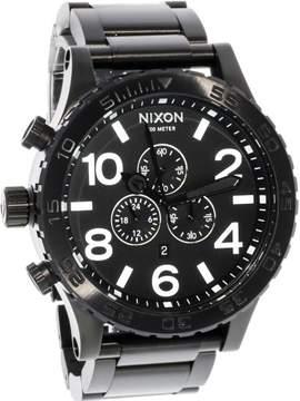 Nixon 51-30 Chrono A083-001 Black Stainless Steel Analog Quartz Men's Watch