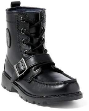 Ralph Lauren Leather Ranger Hi Ii Boot Black Leather 1.5