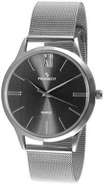 Peugeot Mens Silver Tone Strap Watch-1052sbk