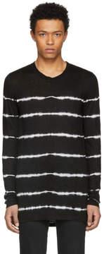 Balmain Black Tie Dye Stripe T-Shirt