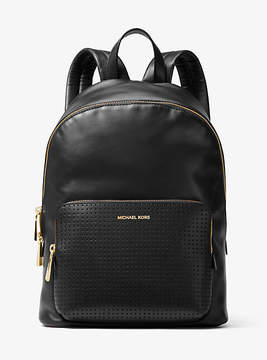 Michael Kors Wythe Large Perforated Leather Backpack - BLACK - STYLE
