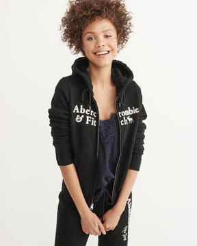 Abercrombie & Fitch Heritage Logo Full-Zip Hoodie