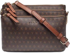 DKNY Bryant Signature Triple Zip Crossbody, Created for Macy's