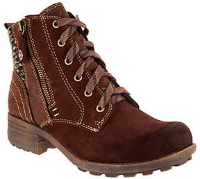 Earth Origins Suede Lace-up Ankle Boots - Porter
